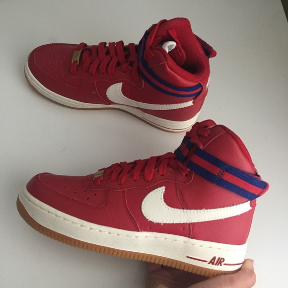 Nike Shoes Nwob Air Force 1 High Top Red White And Blue Poshmark